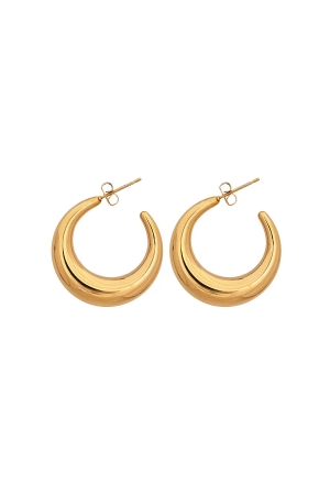 Huggie Hoop Earring in Gold Tone