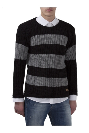 COZY Stripe Knit Jumber