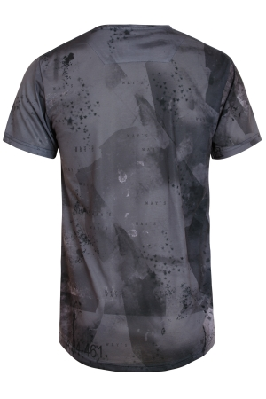 Crew Neck T-Shirt With All Over Print Notifications