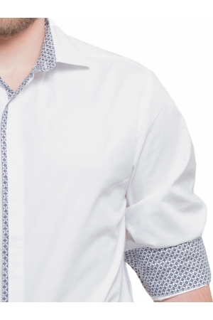 Slim Fit Shirt with Geometric Print