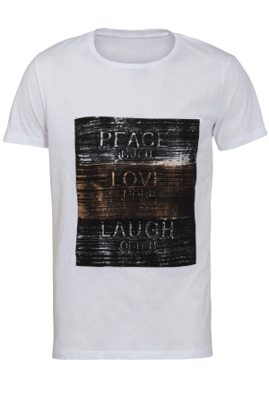 T-shirt Peace Love Laugh