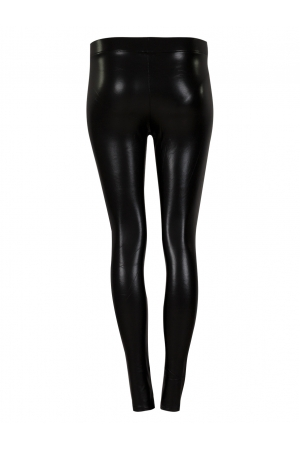 Black Pu Legging