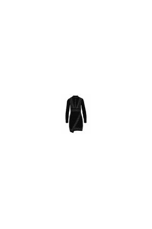 Μίνι Μαύρο Φόρεμα με Μακρύ Μανίκι