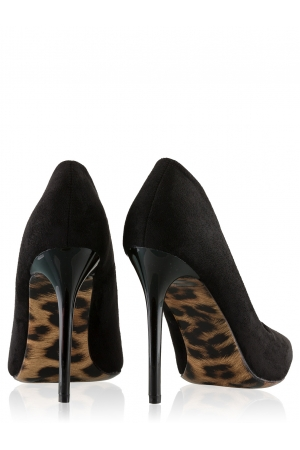 Court Shoes With Leopard Detail