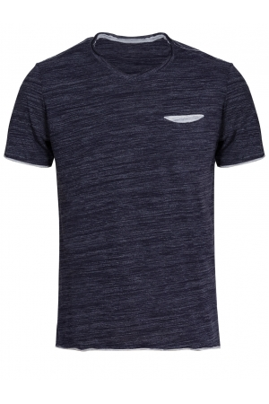 Men's Navy V Neck T Shirt