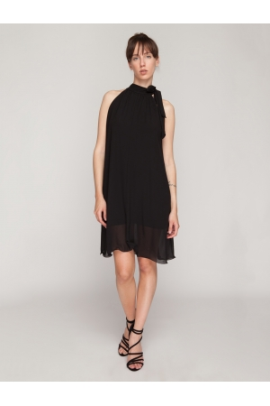 A Line Chiffon Mini Dress
