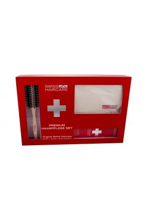 Swiss Haircare Premium Hairbrush 1pc Combo: Round Brush + Bag + 200ml Color Shampoo