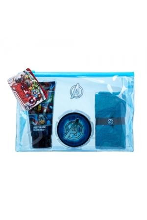 Marvel Avengers Shower Gel 75ml Combo: Shower Gel 75 Ml + Hair Gel 75 Ml + Cloth + Cosmetic Bag