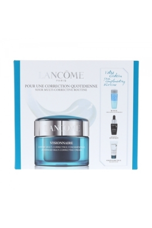 Lancome Visionnaire Advanced Multi-correcting Day Cream 50ml Combo: Skin Cream 50 Ml + Eye Makeup Remover Bi-facil 30 Ml + Serum Advanced Genifique 7 Ml + Eye Balm Visionnaire Eye On Correction 5 Ml (All Skin Types - For All Ages)