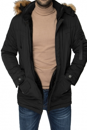 BLACK MEN PARKA