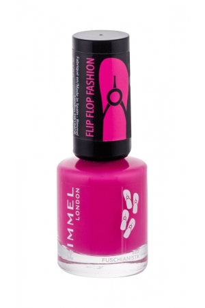 Rimmel London 60 Seconds Flip Flop Nail Polish 8ml 325 Fuschianista (Pink)