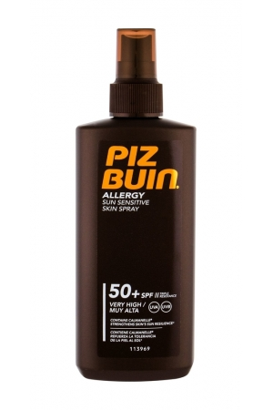 Piz Buin Allergy Sun Sensitive Skin Spray Sun Body Lotion 200ml Waterproof Spf50