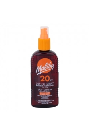 Malibu Dry Oil Spray Sun Body Lotion 200ml Waterproof Spf20