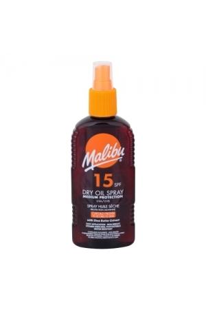 Malibu Dry Oil Spray Sun Body Lotion 200ml Waterproof Spf15