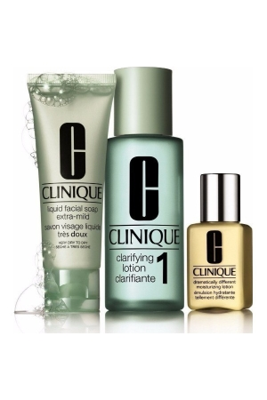 Clinique 3-step Skin Care 4 Cleansing Water 100ml Combo: 50ml Liquid Facial Soap + 100ml Clarifying Lotion 4 + 30ml Ddmgel (Oily)