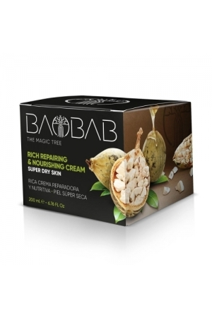 Diet Esthetic Baobab The Magic Tree Day Cream 200ml Rich Repairing & Nourishing Cream (Dry - Very Dry - For All Ages)