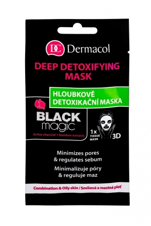 Dermacol Black Magic Face Mask 1pc (Oily - Mixed - For All Ages)