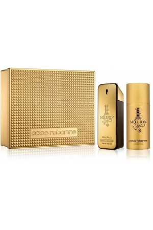 Paco Rabanne 1 Million Eau De Toilette 100ml & Deo Spray 150ml