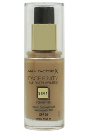 Max Factor Facefinity 3 In 1 Makeup 30ml Spf20 48 Warm Nude