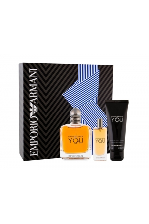 Giorgio Armani Emporio Armani Stronger With You Eau De Toilette 100ml Combo: Edt 100 Ml + Shower Gel 75 Ml + Edt 15 Ml