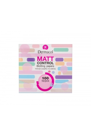 Dermacol Matt Control Cleansing Wipes 100ml (Oily - Mixed)