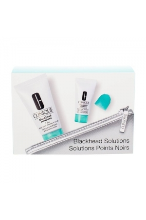 Clinique Blackhead Solutions Points Noirs - Soothing Cleanser 30ml + Deep Pore Cleans & Scrub Self-Heating Blackhead Extractor 7ml + Cosmetic Bag