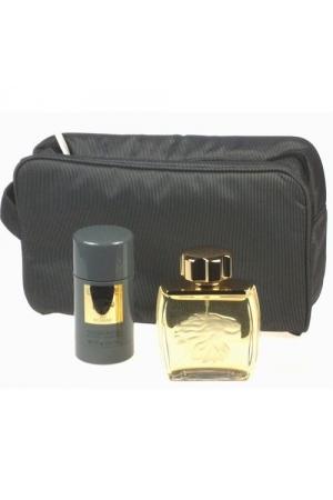 Lalique Pour Homme Lion Eau De Toilette 75Ml & 75Ml Deo Stick & Bag