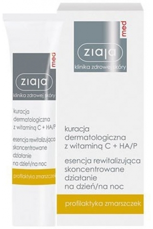 Ziaja Med Dermatological Treatment Revitalizing Day And Night Essence Day Cream 30ml (Wrinkles - All Skin Types)