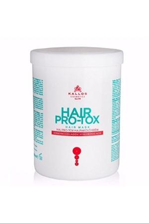 KALLOS Hair Pro-Tox Hair Mask maska do wlosow z keratyna kolagenem i kwasem hialuronowym 1000ml