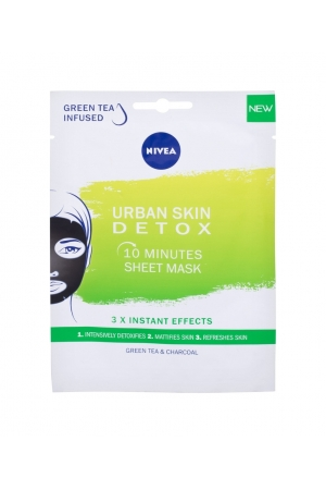Nivea Urban Skin Detox 10 Minutes Sheet Mask Face Mask 1pc (All Skin Types - For All Ages)