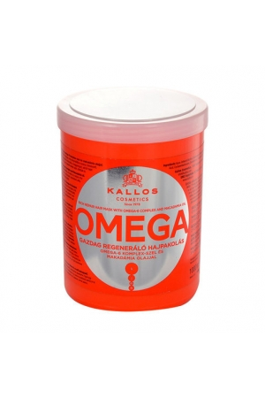 KALLOS Omega Rich Repair Hair Mask With Omega-6 Complex And Macadamia Oil 1000ml