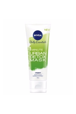 Nivea Essentials 1 Minute Urban Detox Mask Face Mask 75ml (All Skin Types - For All Ages)