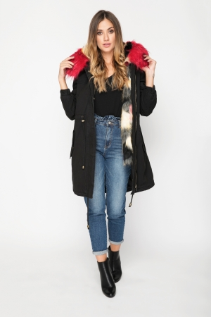 Parka Coat With Faux Fur
