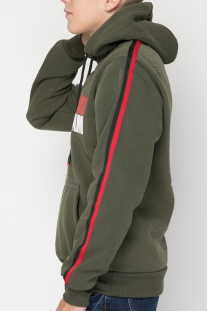 COZY Hoodie With Striped Detail