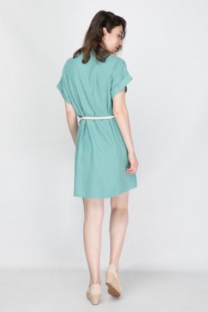 Casual Φόρεμα με Ζώνη Σχοινί