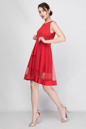 Φόρεμα Skater με Τούλι