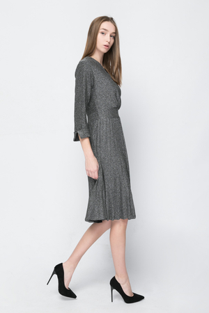 COZY Metallic Midi Dress