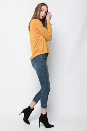 Long Sleeve Asymmetrical Tee