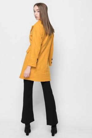 Γυναικείο Παλτό Basic Line- Κίτρινο