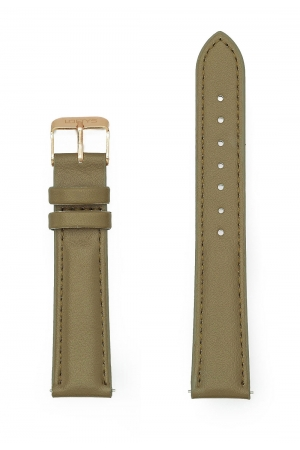 Olive Green Genuine Leather Strap 18mm
