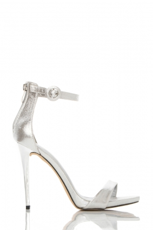 Silver Metallic High Heel Sandals