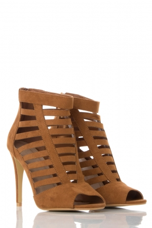 Tan Gladiator Ankle Boots