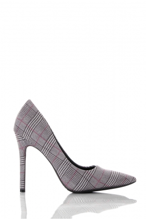 Check Pointed Court Shoes