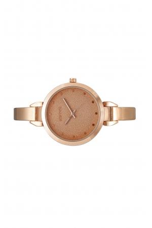 Ρολόι Loftys Elegant με ροζ χρυσό μπρασελέ και καντράν Y2010-9
