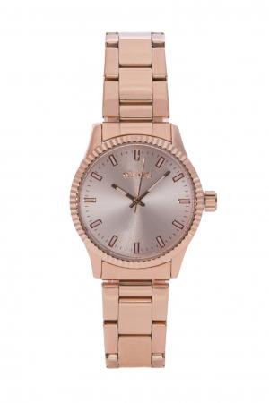 Ρολόι Loftys Mercury με ροζ χρυσό μπρασελέ και καντράν Y2013-1
