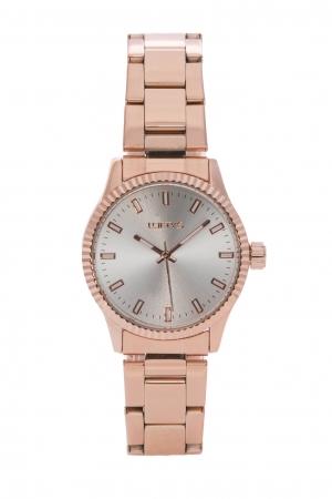 Ρολόι Loftys Mercury με ροζ χρυσό μπρασελέ και ασημί καντράν Y2013-3
