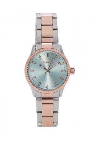 Ρολόι Loftys Mercury με ασημί/ροζ χρυσό μπρασελέ και γαλάζιο καντράν Y2013-5