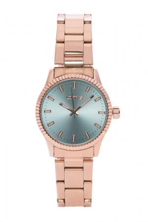 Ρολόι Loftys Mercury με ροζ χρυσό μπρασελέ και γαλάζιο καντράν Y2013-7