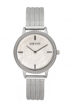LOFTY'S Cassiopi Crystals Silver Stainless Steel Bracelet Y2014-13