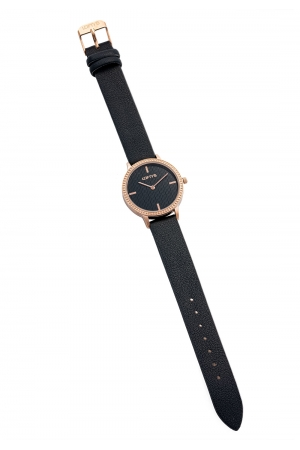 LOFTY'S Cassiopi Crystals Black Leather Strap Y2014-2